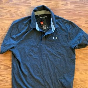 Men's Under Armour heat gear golf polo NWT large L